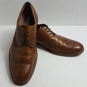 Joseph Abboud Greenwood Tan Wingtips Lace up shoes